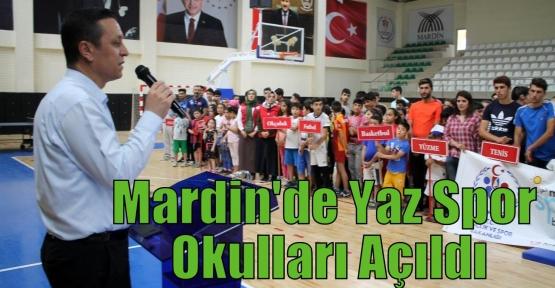 Mardin'de Yaz Spor Okulları Açıldı