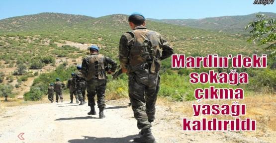 Mardin'deki sokağa çıkma yasağı kaldırıldı