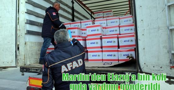 Mardin'den Elazığ'a bin koli gıda yardımı gönderildi