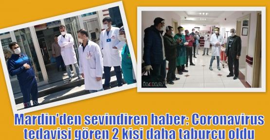 Mardin'den sevindiren haber: Coronavirus tedavisi gören 2 kişi daha taburcu oldu