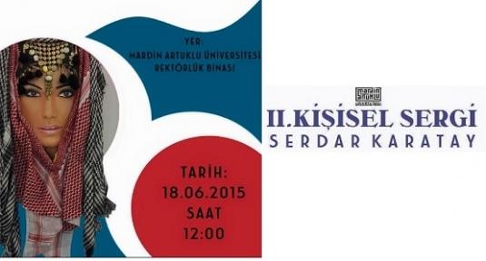 Mardinli Genç Ressam  Karatay, 2. Kişisel Sergisi Artuklu Üniversitesinde