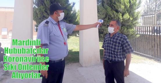 Mardinli Hububatçılar Koronavirüse Sıkı Önlemler Alıyorlar.