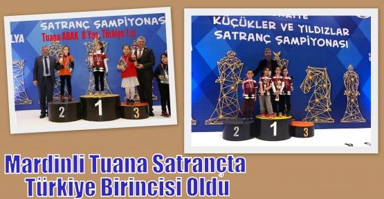 Mardinli Tuana Satrançta Türkiye Birincisi Oldu