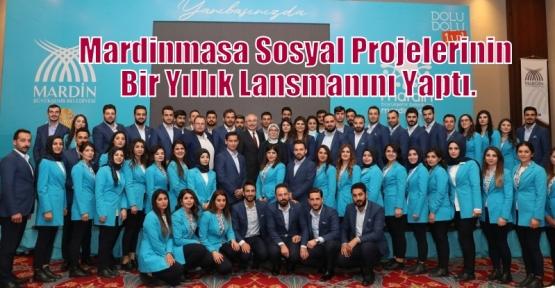 Mardinmasa Sosyal Projelerinin Bir Yıllık Lansmanını Yaptı.