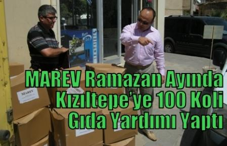 MAREV Ramazan ayında Kızıltepe'ye 100 Koli Gıda Yardımı Yaptı