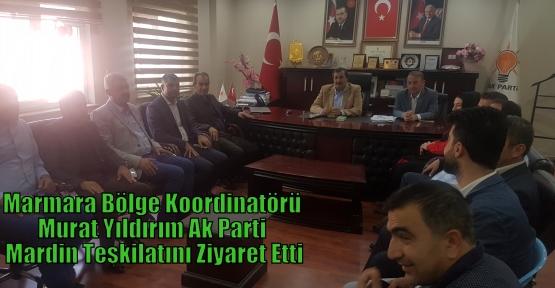 Marmara Bölge Koordinatörü Murat Yıldırım  Ak Parti Mardin Teşkilatını Ziyaret Etti