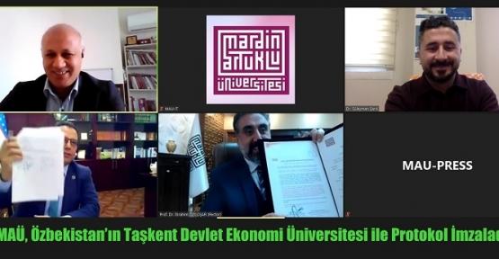 MAÜ, Özbekistan'ın Taşkent Devlet Ekonomi Üniversitesi ile Protokol İmzaladı