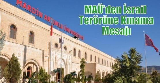 MAÜ'den İsrail  Terörüne Kınama Mesajı
