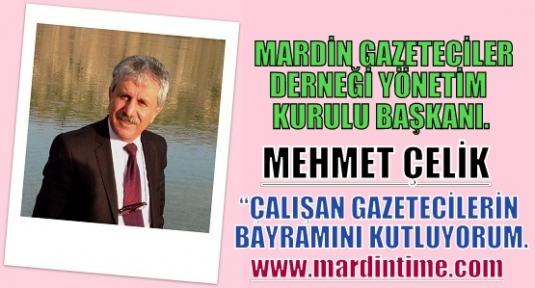 Mehmet Çelik'Çalışan Gazetecilerin Bayramını Kutluyorum'