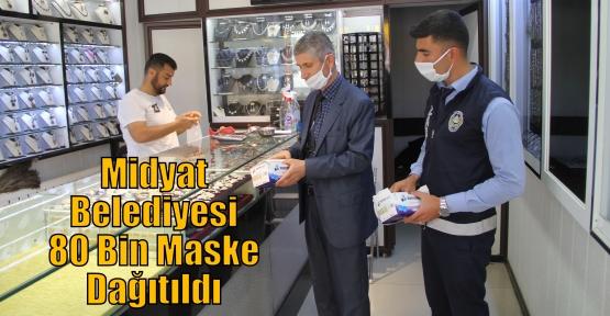Midyat Belediyesi 80 Bin Maske Dağıtıldı