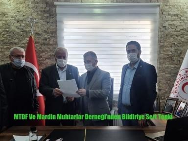 MTDF Ve Mardin Muhtarlar Derneği'nden Bildiriye Sert Tepki