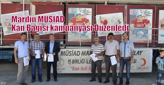 MÜSİAD Mardin Şubesi Kan Bağışı Kmpanyası Düzenledi