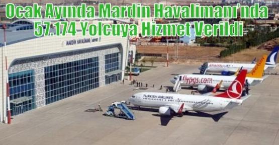 Ocak Ayında Mardin Havalimanı'nda 57.174 Yolcuya Hizmet Verildi