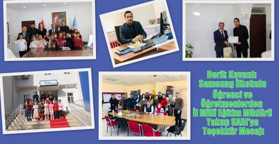 Öğrenci ve Öğretmenlerden Mardin Valisi Mustafa YAMAN'a ve İl Millî Eğitim Müdürü Yakup SARI'ya Teşekkür Mesajı