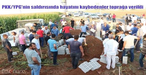 PKK/YPG'nin saldırısında hayatını kaybedenler toprağa verildi