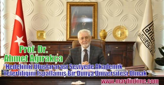 Prof. Dr. Ahmet Ağırakça Rektörlük İçin Adaylığını Açıkladı