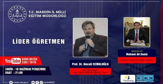 Prof. Dr. Necati Cemaloğlu,Mardin'de Öğretmenlerle Buluşacak