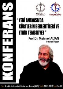 Prof. Dr.Mehmet ALTAN Müsiad'ın Konuğu Olarak Mardin'e Geliyor