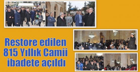 Restore edilen 815 Yıllık Camii ibadete açıldı