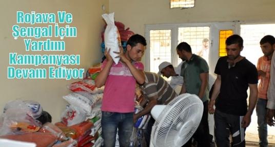 Rojava Ve Şengal İçin Yardım Kampanyası Devam Ediyor