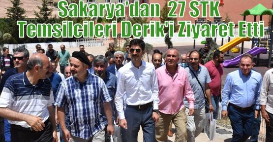 Sakarya'dan  27 STK Temsilcileri Derik'i Ziyaret Etti