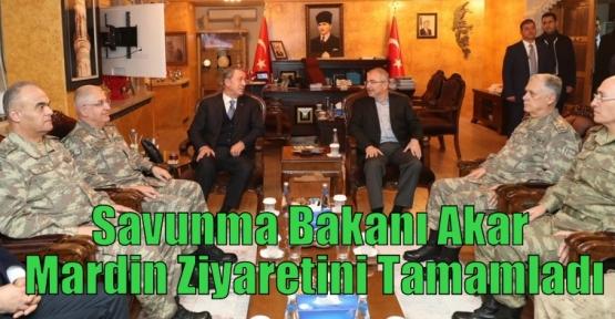 Savunma Bakanı Akar Mardin Ziyaretini Tamamladı