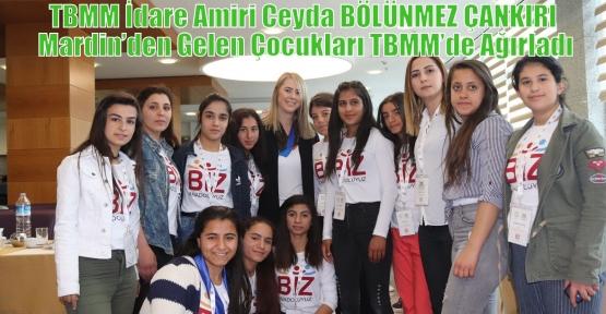 TBMM İdare Amiri Ceyda BÖLÜNMEZ ÇANKIRI Mardin'den Gelen Çocukları TBMM'de Ağırladı
