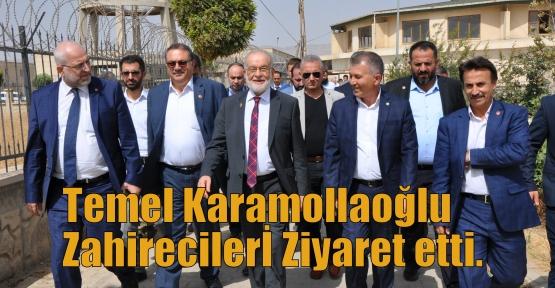 Temel Karamollaoğlu  Zahirecilerİ Ziyaret etti.