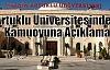 Artuklu Üniversitesinden Kamuoyuna Açıklama