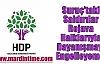 HDP:Suruç'taki Saldırılar Rojava Halklarıyla Dayanışmayı Engelleyemez