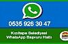 Kızıltepe Belediyesi Whatsapp Hattı Devrede