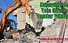 Nusaybin'de Yola Girmiş Yapılar Yıkılıyor
