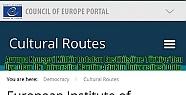 Avrupa Konseyi Kültür Rotaları Enstitüsü'ne...