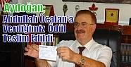 Aydoğan;Abdullah Öcalan'a Verdiğimiz...