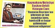 Kaymakam/Belediye Başkan Vekili Hüseyin...