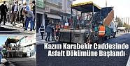 Kazım Karabekir Caddesinde Asfalt Dökümüne...