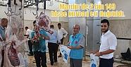 Mardin'de 2 bin 149 hisse kurban eti dağıtıldı.