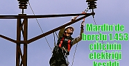 Mardin'de borçlu 1.453 çiftçinin elektriği...