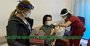 Mardin'de CoronoVac aşısı uygulanmaya...