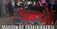 Mardin'de iki otomobilin karıştığı...