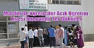 Mardin'de öğrenciler Açık Öğretim...