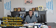 MTDF Başkanı Öter; 'Tüm İslam Âleminin...
