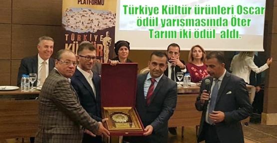 Türkiye Kültür ürünleri Oscar ödül yarışmasında Öter Tarım iki ödül  aldı.