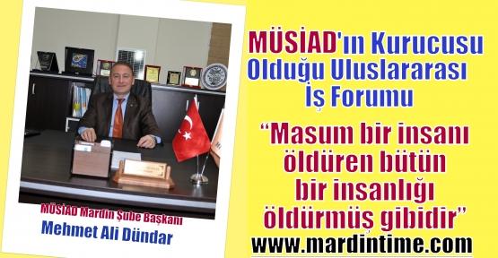 Uluslararası İş Forumu'ndan Ortak Deklarasyon