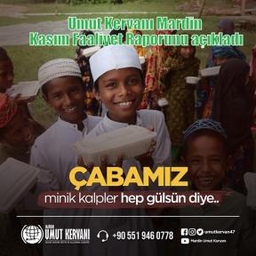 Umut Kervanı Mardin Kasım Faaliyet Raporunu açıkladı