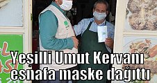 Yeşilli Umut Kervanı esnafa maske dağıttı