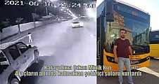 Karayoluna Çıkan Minik Kızı Araçların altında kalmaktan şehiriçi şoförü kurtardı