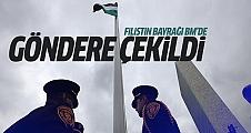 Filistin bayrağı BM'de göndere çekildi