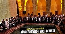 Başbakan Davutoğlu Mardin'de Kürtçe Mevlid-i Şerif dinledi