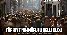 2015 Türkiye'nin nüfusu ne kadar?